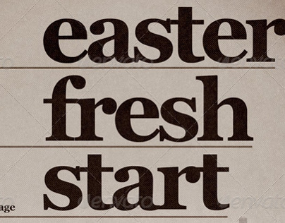 Easter Fresh Start Church Flyer Template