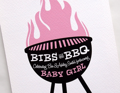 Bibs and BBQ - Baby Shower Invite