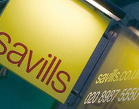 Savills UK branch signage