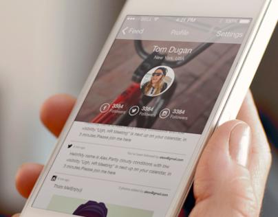 Social App Concept for iOS 7