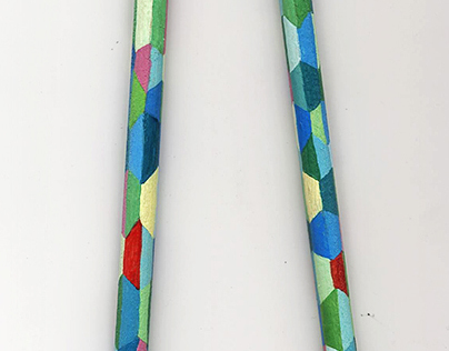 kaleidoscopic pencils design
