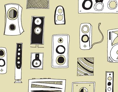 Speaker Pattern-blank cards