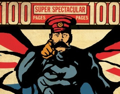 Lord Kitchener and Uncle Sam as Comic Superheroes