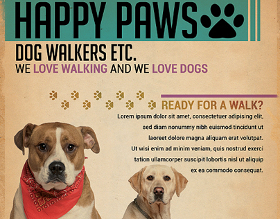 Dog Walkers Flyer Template