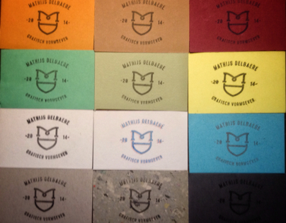 Stamp based business cards