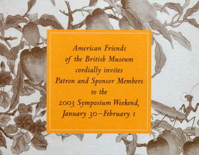 American Friends of the British Museum: Invitation