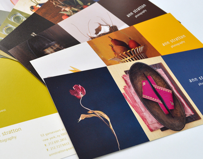 Ann Stratton Photography, self promo cards