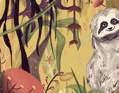 Sloth Bear Illustration