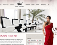 Grand Hotel Rex 5 stars (website concept)