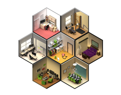 Low Poly rooms