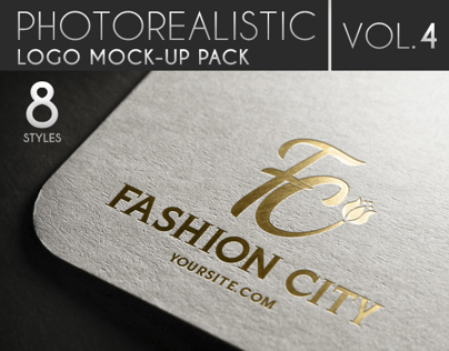 Photorealistic Logo Mock-Up Pack Vol.4