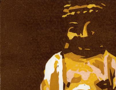 Buddha Reductive Print