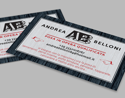Business card for a great artisan