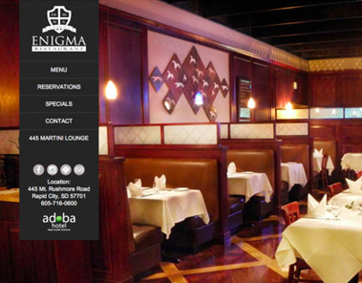 Enigma Restaurant Website