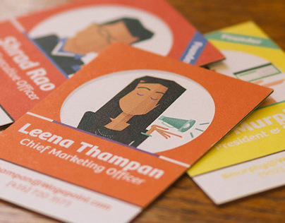 Illustrated Character Business Cards