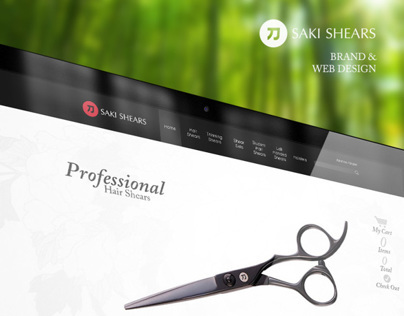 Saki Shears / Brand and Web Design