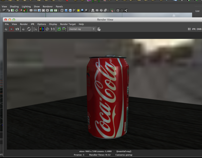 Maya 3d Sketches. Coca Cola Can.