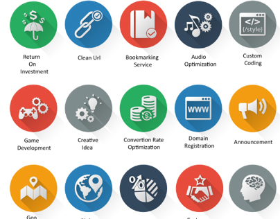 Flat Icons - SEO Icons and Web Icons Set | GraphicRiver