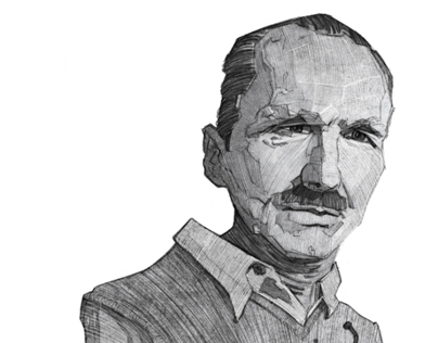 Nikos Kazantzakis illustration Sketch