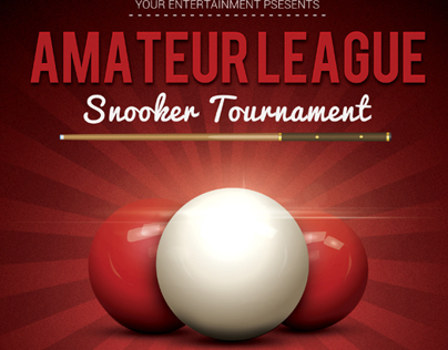 Snooker Flyer Template V2