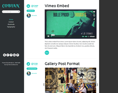 Cobian - Responsive Blogging Theme