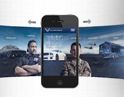 U.S. Air Force Project: Supercar Mobile Site