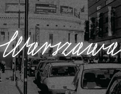 Warszawa - Neon Lettering
