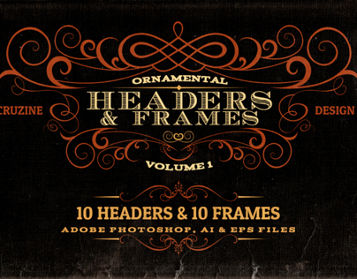 Ornamental Headers & Frames v.1