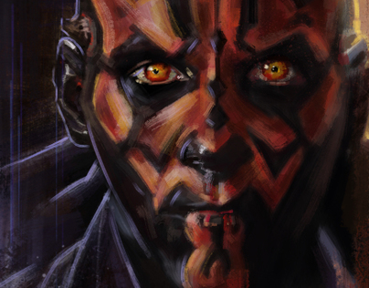 Darth Maul - An Illustrated Print