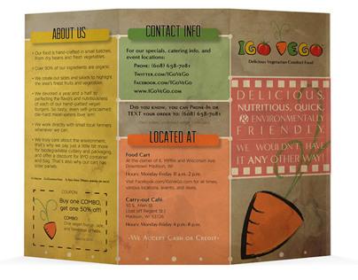 IGo VeGo-Folded Menu and Cards