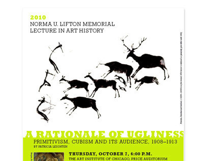 Norma U. Lifton Memorial Lecture in Art History Invite