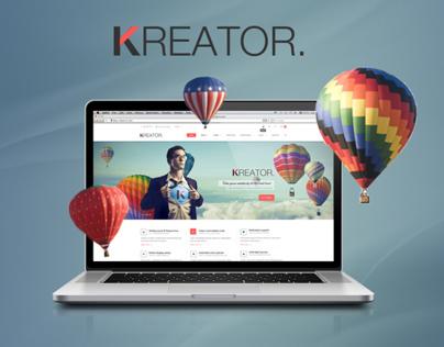Kreator Fresh and Creative PSD Template