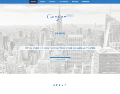 Canyon Studio - Portfolio Theme