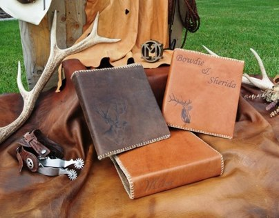 Handmade Leather Binder Covers