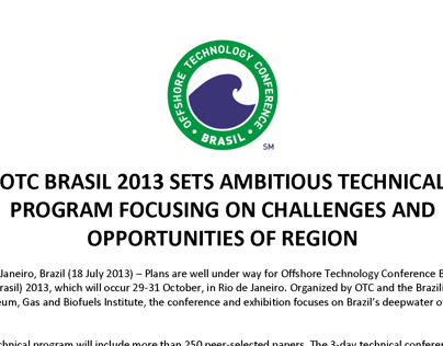 OTC Brasil Press Release