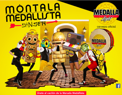 Medalla Light SanSe '14- Radio & Character Design