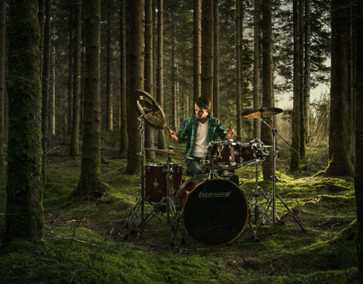 Drummer in the woods