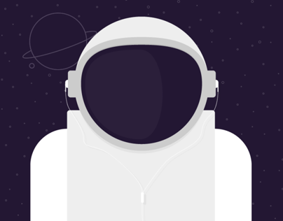 Astronaut is listening music