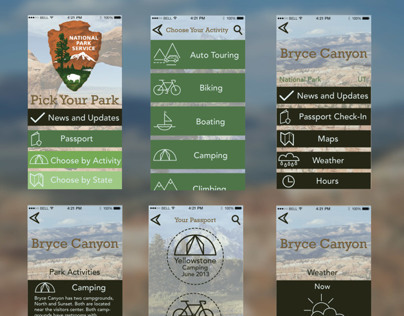 National Parks App & Icons