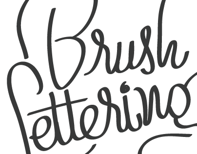 DIGITAL BRUSH LETTERING I
