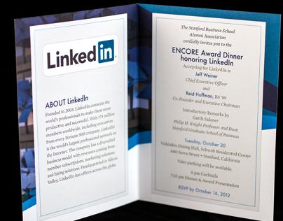 ENCORE Award Dinner Invitation