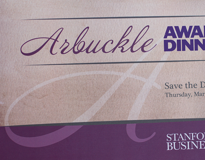Arbuckle Award Dinner Invitation