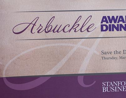 Arbuckle Award Dinner Invitation