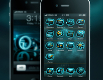 TRON:LEGACY inspired iOS iconset