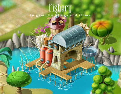 Fishery: In game buildings and items