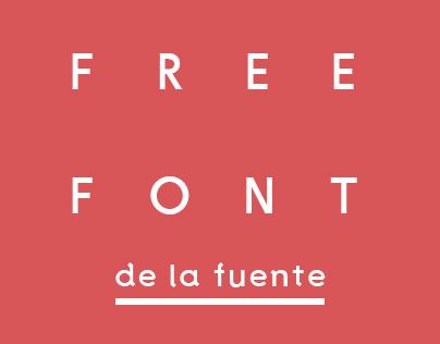 De La Fuente free sans serif serifed font