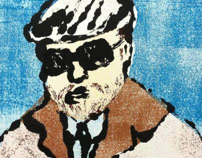 Self Portrait Monoprint