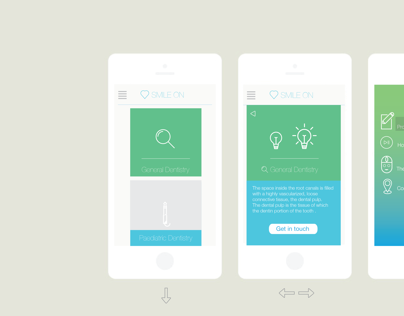 Visual Design for Oral Health app