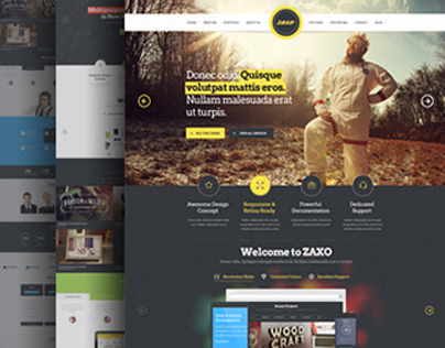 PSD Template - ZAXO - One Page
