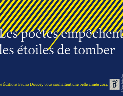 "Greeting card for ""Editions Bruno Doucey"""
